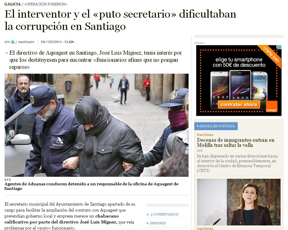 El interventor y el «puto secretario» dificultaban la corrupción en Santiago   ABC.es